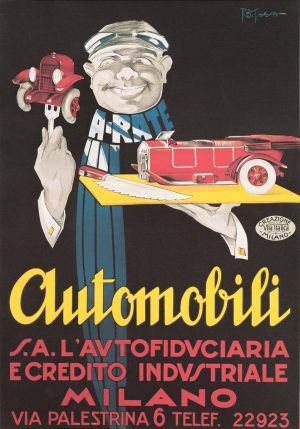 Automobili Milano | Vintage Retro Poster | Colour Factory Editions