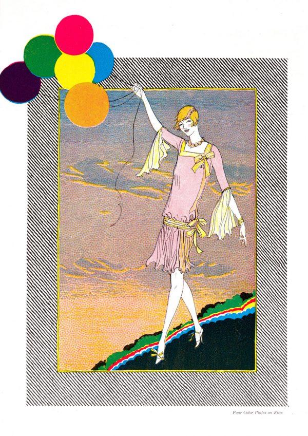 Balloon Girl   Vintage Retro Poster   Colour Factory Editions