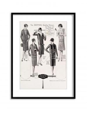 Better Dresses   Vintage Retro Poster   Colour Factory Editions