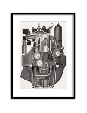 Big Engine | Vintage Retro Poster | Colour Factory Editions