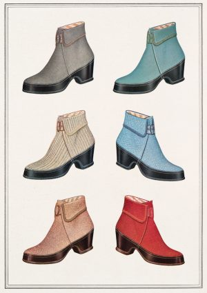 Boots | Vintage Retro Poster | Colour Factory Editions