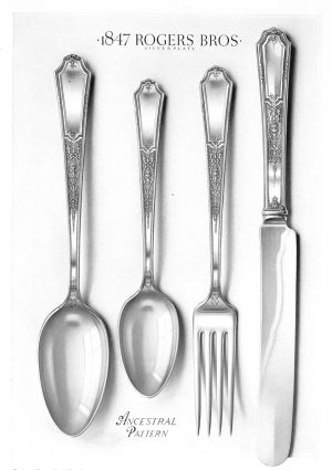 Cutlery Set | Vintage Retro Poster | Colour Factory Editions