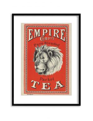 Empire Tea | Vintage Retro Poster | Colour Factory Editions