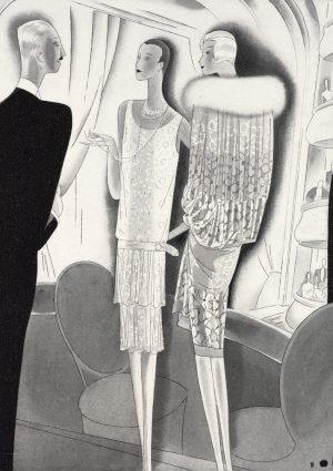Evening Dresses | Vintage Retro Poster | Colour Factory Editions