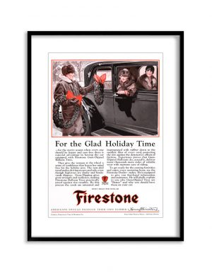Firestone | Vintage Retro Poster | Colour Factory Editions