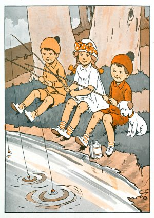 Fishing Adventures | Vintage Retro Poster | Colour Factory Editions