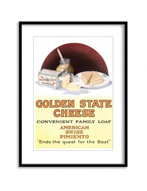 Golden State | Vintage Retro Poster | Colour Factory Editions