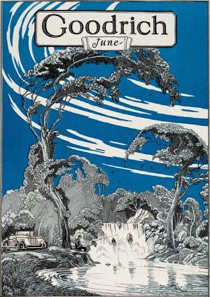 Goodrich | Vintage Retro Poster | Colour Factory Editions