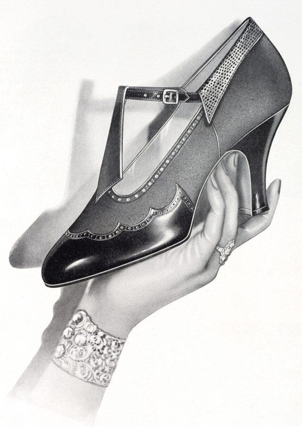 Her Shoe   Vintage Retro Poster   Colour Factory Editions
