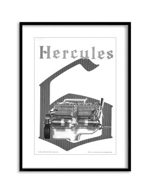 Hercules | Vintage Retro Poster | Colour Factory Editions