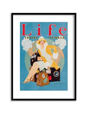 Life Travel | Vintage Retro Poster | Colour Factory Editions