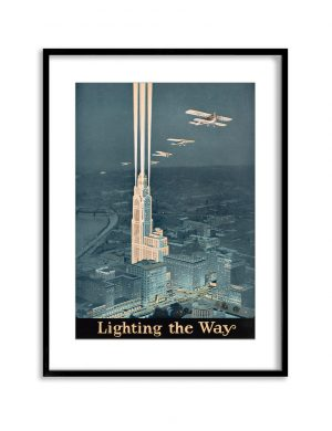 Lighting the Way | Vintage Retro Poster | Colour Factory Editions