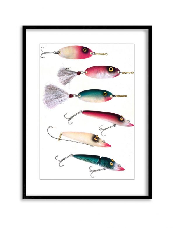 Lures | Vintage Retro Poster | Colour Factory Editions