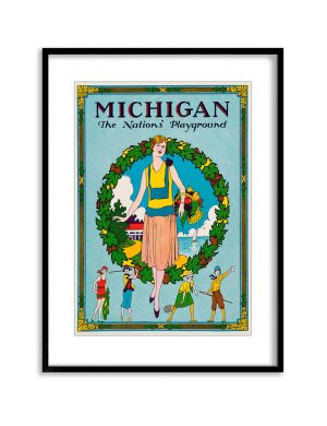 Michigan | Vintage Retro Poster | Colour Factory Editions
