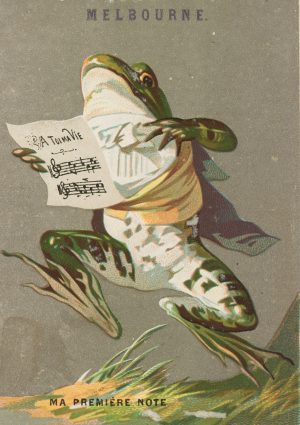 Musical Frog | Vintage Retro Poster | Colour Factory Editions