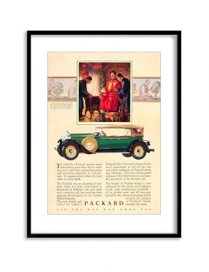 Packard | Vintage Retro Poster | Colour Factory Editions
