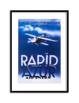 Rapid Azur | Vintage Retro Poster | Colour Factory Editions