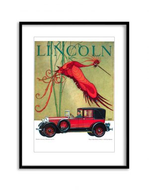 Red Lincoln | Vintage Retro Poster | Colour Factory Editions