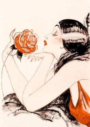 Rose | Vintage Retro Poster | Colour Factory Editions