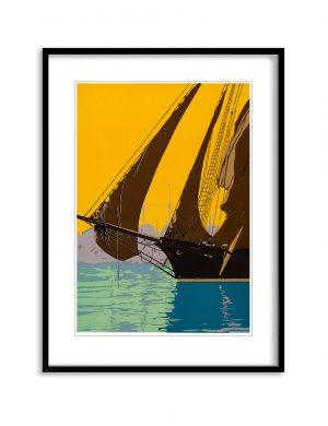 Set Sail | Vintage Retro Poster | Colour Factory Editions