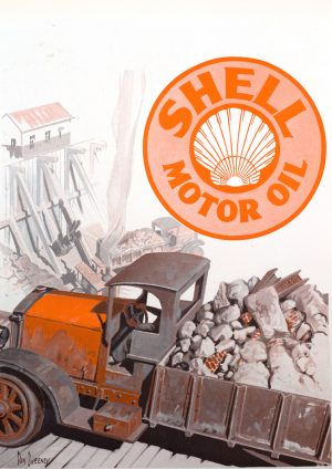 Shell Oil | Vintage Retro Poster | Colour Factory Editions