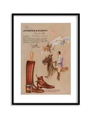 Johnston & Murphy | Vintage Retro Poster | Colour Factory Editions