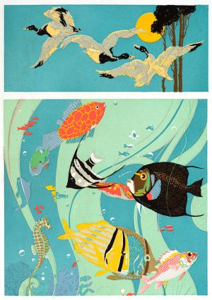 Sky and Sea | Vintage Retro Poster | Colour Factory Editions