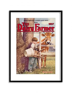 The Dairy Farmer | Vintage Retro Poster | Colour Factory Editions