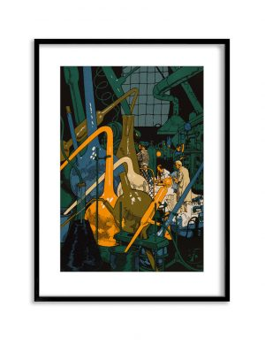 The Laboratory | Vintage Retro Poster | Colour Factory Editions