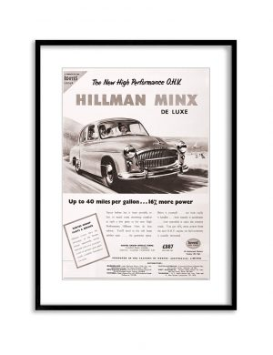 Hillman | Vintage Retro Poster | Colour Factory Editions