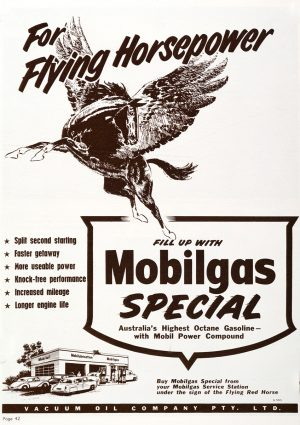 Mobilgas | Vintage Retro Poster | Colour Factory Editions