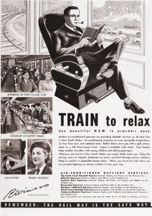 Train to relax | Vintage Retro Poster | Colour Factory Editions